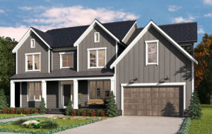 Clifton model with farmhouse style elevation in pewter grey