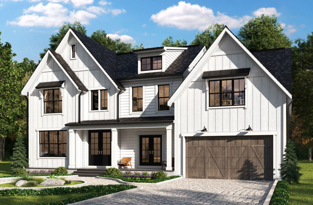 Hampton model with new farmhouse style elevation