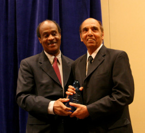 Classic Homes builder Prem Puri  receives award from County  Executive Ike Leggett