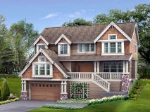 The standard elevation of the Leland model home.