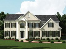 The standard brick elevation for the Lexington model in white