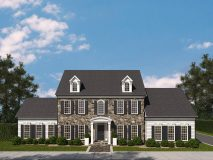 An optional stone and siding elevation for the McLean model home.