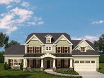 An optional craftsman style elevation for the McLean model home with full porch and dual gables