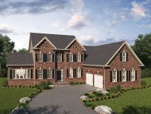 The standard brick elevation for the Summerset model home, shown with optional sunroom