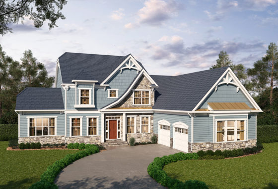 Summerset model with craftsman style elevation