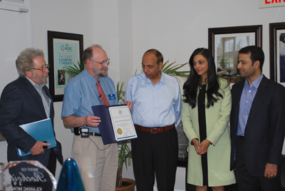"Classic Homes of Maryland awarded 2012 Awarded ""Certificate of Appreciation"" for their contributions to Rockville's Econom"