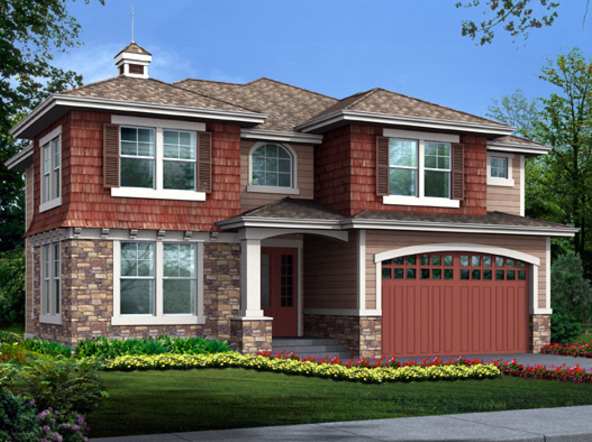 Standard elevation for the Beechtree model home.