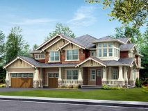 The standard elevation for the Cedar model home.