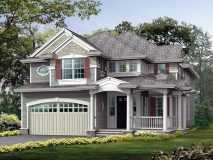 The standard elevation for the craftsman series Charlotte model