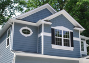 Craftsman style home exterior finishes.