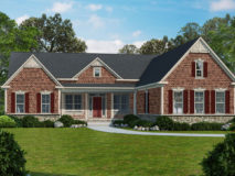 Alternate brick elevation for the Danville model home.