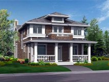 The standard elevation for the craftsman series Kingston model home.