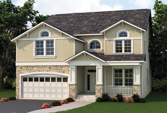 Standard elevation for the Lily Stone model home.