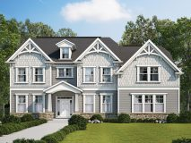 A craftsman style elevation for the Monticello model home