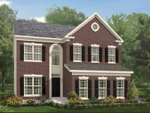 The standard brick elevation for the Richmond model home.