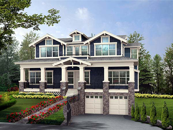 house plans view sloping lot small house plans on sloped lots home design and style