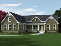 Alternate stucco elevation for the Seneca model home.