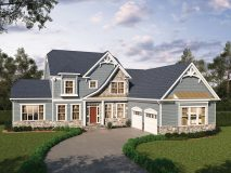 An optional craftsman style elevation for the Summerset model home.
