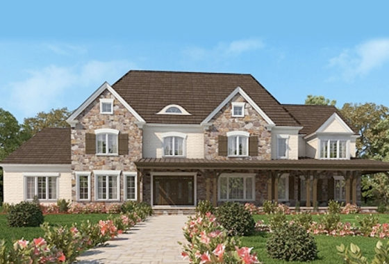 Standard elevation for the Victoria model home.