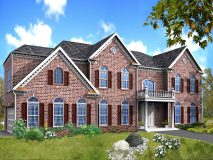 The standard brick elevation for the Winterberry model home
