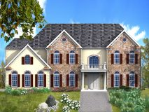 An optional stone elevation with stucco accents for the WInterberry model home