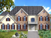 Optional elevation 400SN for the Winterberry model home.