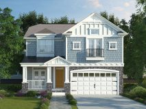 Another optional alternate craftsman style elevation for the City Lily Stone model home.