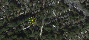 satellite image of 6405 WInston Dr Bethesda site outline