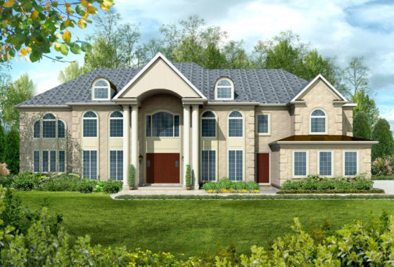 Standard elevation for the Spicewood luxury series model home.