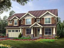 An alternate elevation for the Craftsman Series Marlyn model home.