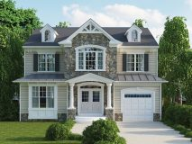 An alternate craftsman elevation for the Chatham model home.