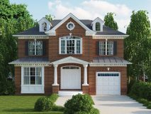 The standard brick elevation for the Chatham model home.