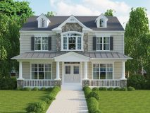 The standard craftsman style elevation for Chatham II (no garage)