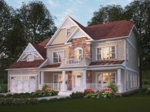 The standard elevation for the craftsman series Winston model home.
