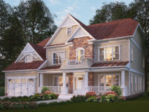 Standard elevation for the Winston model home.