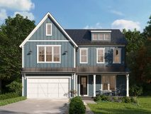 The standard elevation for the modern farmhouse style Willow model