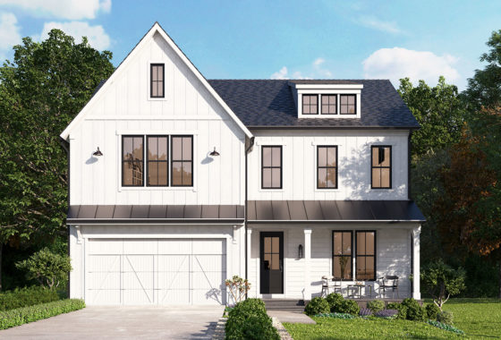 Optional elevation for the Willow farmhouse style model.