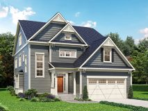 Standard elevation for the Craftsman Series Darcy model home.
