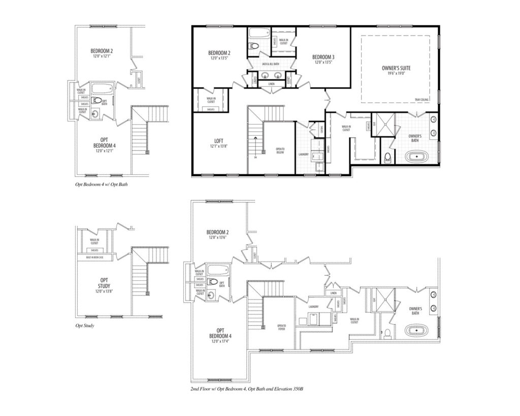 Second floor plan for the Clifton model home.