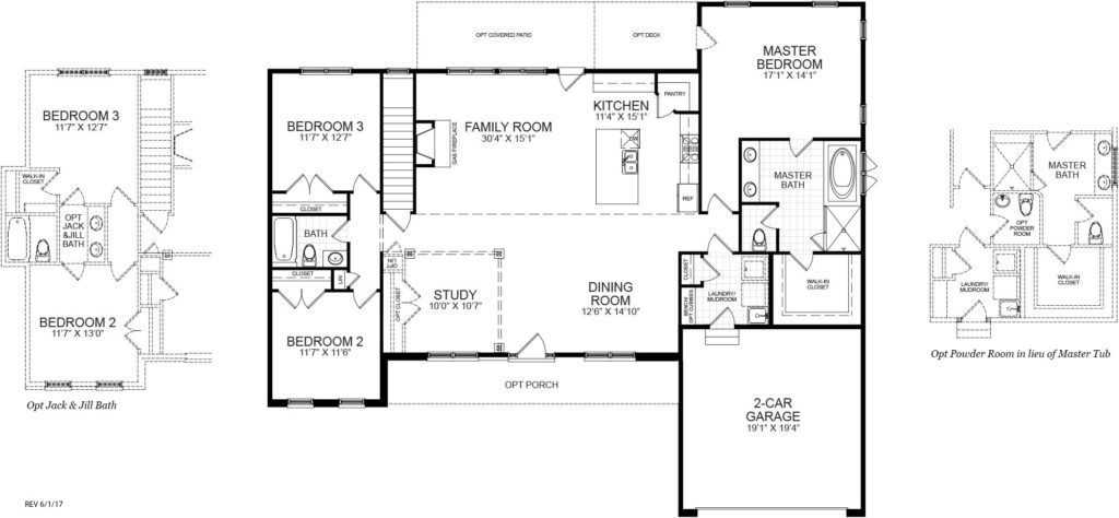 The first floor plan for the Danville model home.