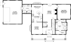 First floor plan for the Grayson model home