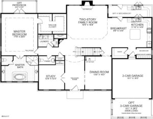 First floor plan for the McLean model home.