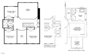 Second floor plan for the McLean model home.