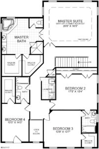 An alternate second floor plan for the Richmond model home.