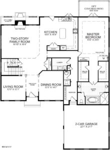 First floor plan for the Summerset model home.