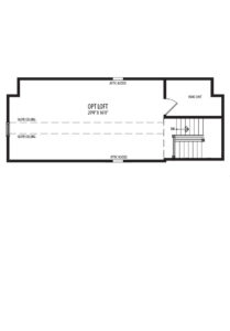 Optional third floor Loft plan for the Willow model home.