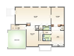 Optional finished Basement plan for the Winterberry model home.