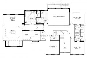 Second floor plan of the proposed home for 13316 Manor Stone Dr.