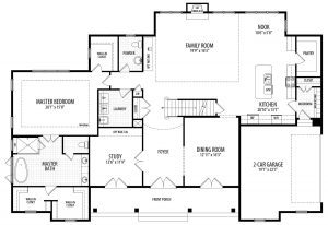 First floor plan of proposed custom home for 15155 River Rd