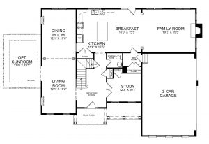 Proposed first floor plan for 10417 Gary Rd